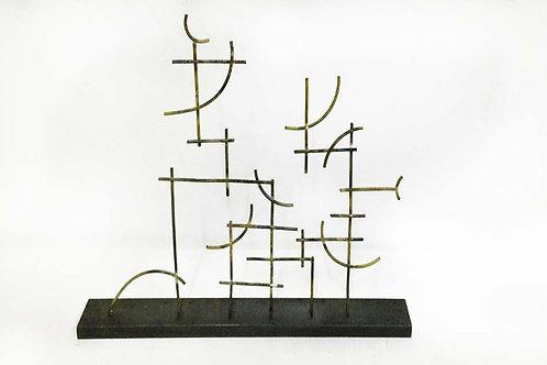 Escultura de metal. Pieza única