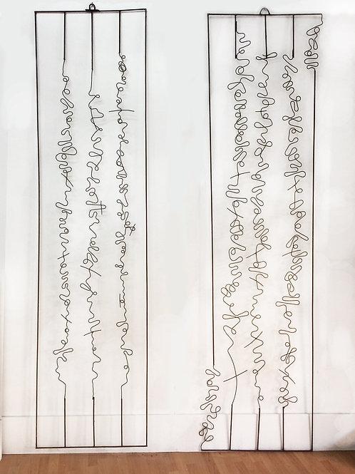 Escultura horizontal para pared, pieza única de la colección Paisajes