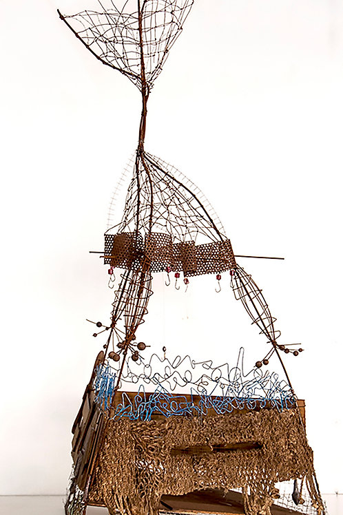 Barca de pesca con red