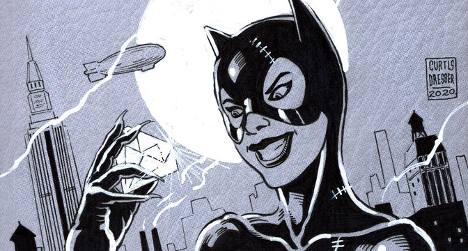 Catwoman 80th Anniversary Sketch Cover