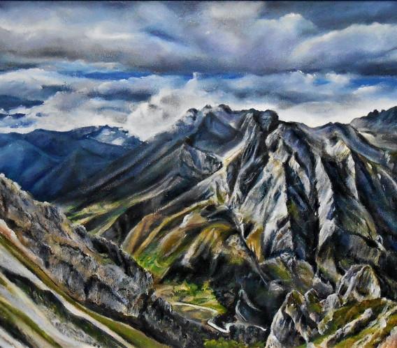 Valle de Valdeón desde Collado Jermoso