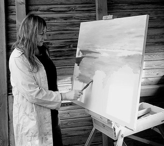Pintando en las lagunas de Villadangos.j