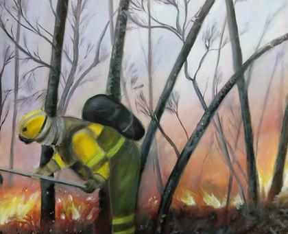 Óleos hechos para mí próxima exposición donde seguiré trabajando sobre el fuego y sus repercusiones.