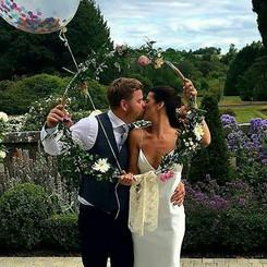 Triona & her new husband at Markree Castle