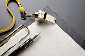 Metal sport whistle with pen and paper s