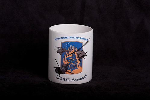 Plain White Mug with Unit Design