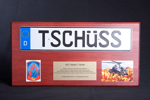 Plaque with Number Plate