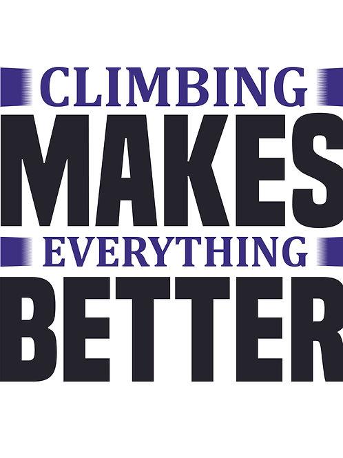 Climbing makes