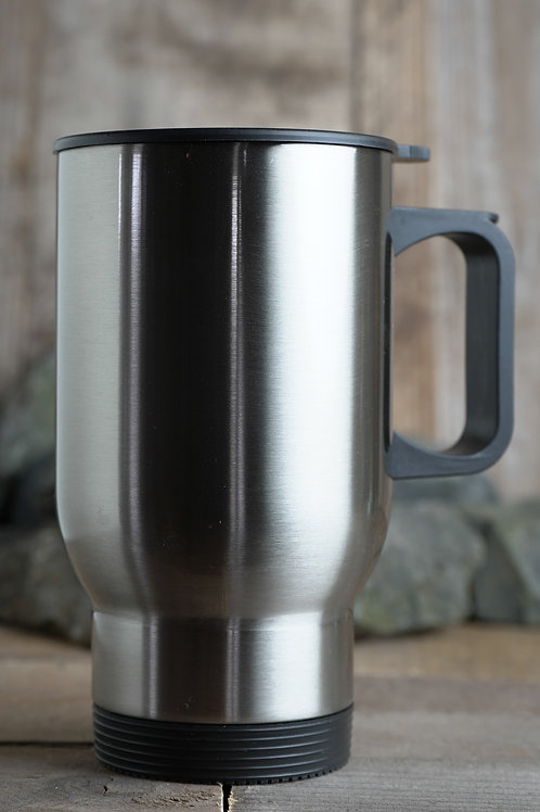 Stainless steel coffee Mug with Livorno  Design