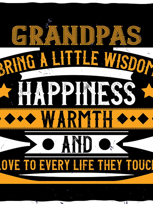 Grandpas bring a little wisdom