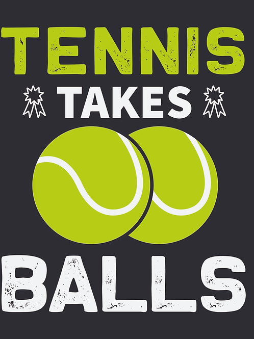 Tennis takes balls