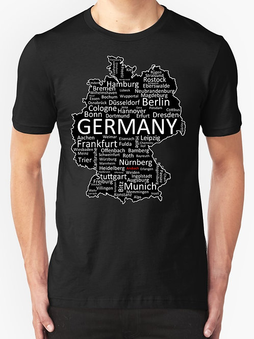 Germany Outline ANSBACH RED