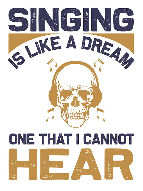 Singing is like a dream