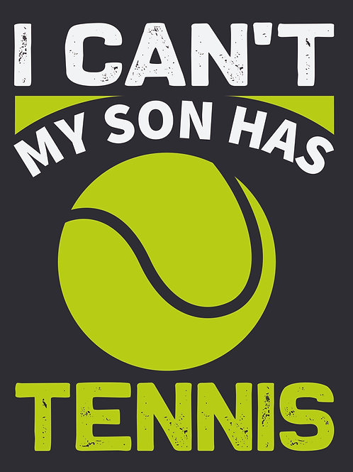 I can't my son has tennis - 02