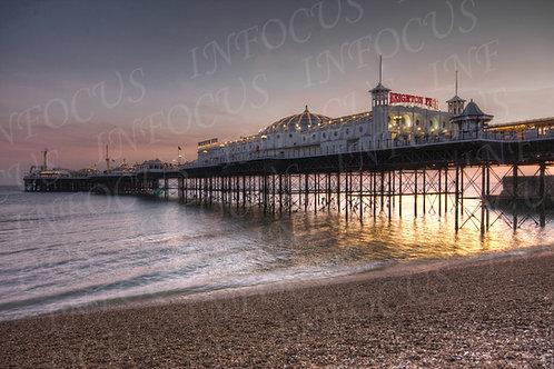 Brighton Pier at Sunset.
