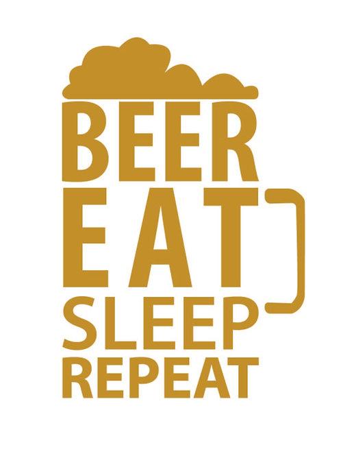 Beer Eat Sleep