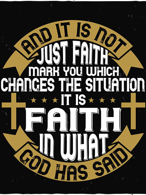 And it's not just faith