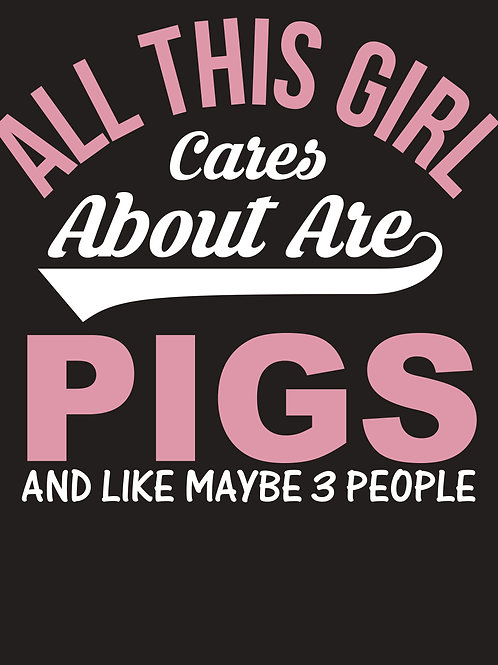 All this girl cares about are pigs