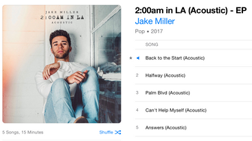 2:00am in LA (Acoustic) - EP - Jake Miller out now!