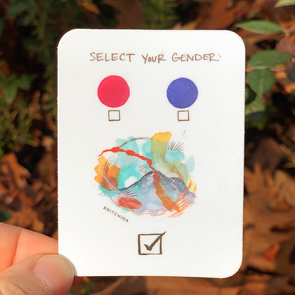Sticker: Select Your Gender 6