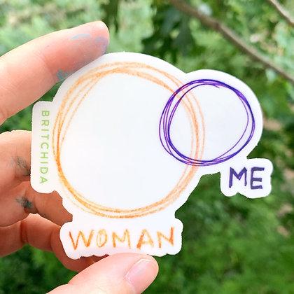 Sticker: Woman / Me
