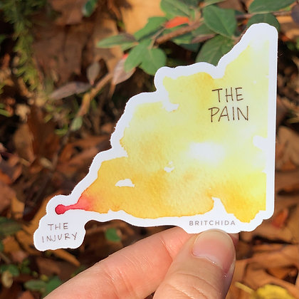 Sticker: The injury / The Pain