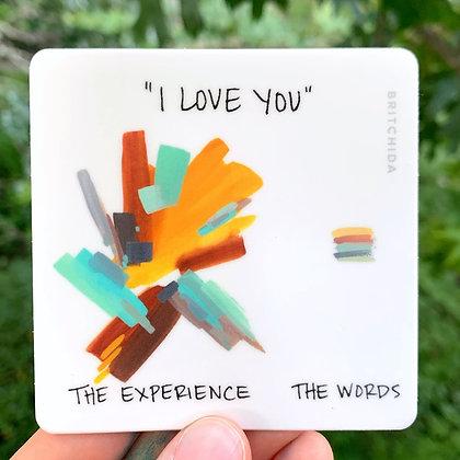 Sticker: I Love You