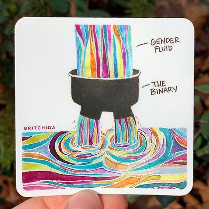 Sticker: Gender Fluid
