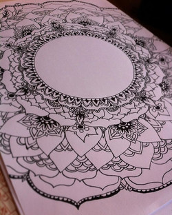 Almost done! A #mandala coloring page for my Patreon subscribers