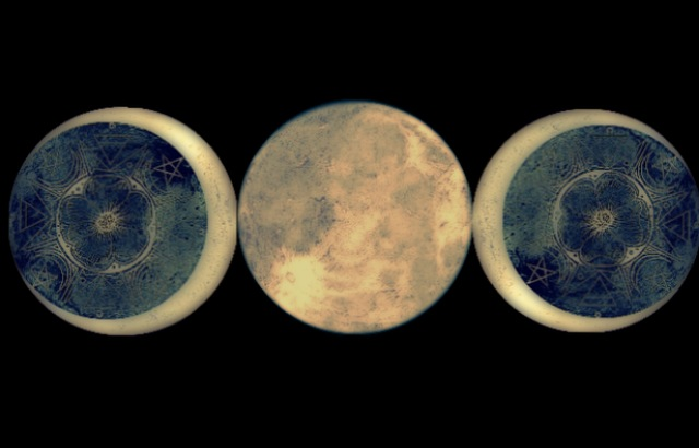 Triple Moon sacred art