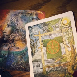 February_ wisdom and weaving_This month I pulled The Wheel and Minerva