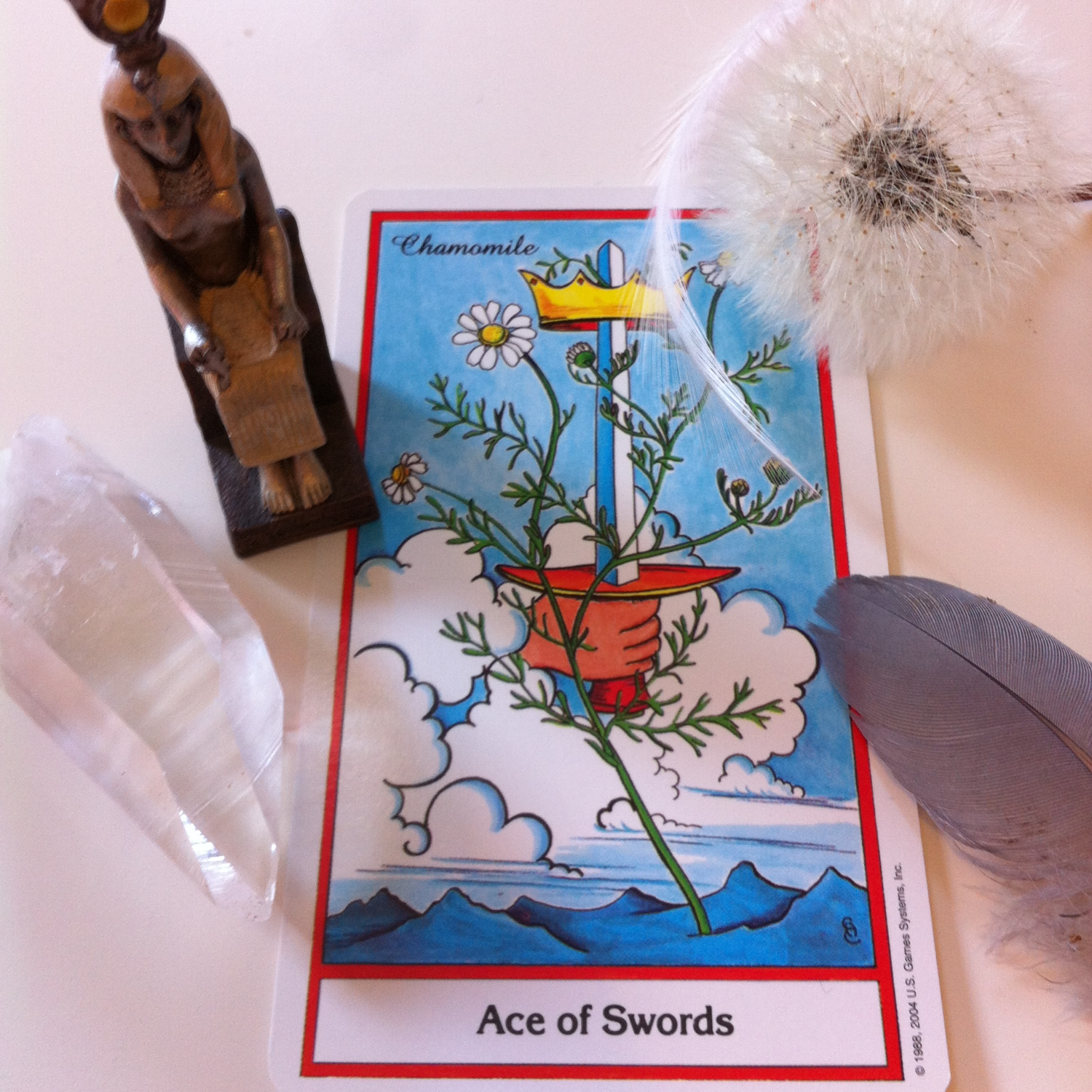 Ace of Swords herbal Tarot