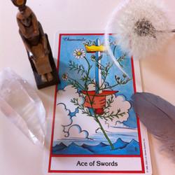 Ace of Swords herbal Tarot