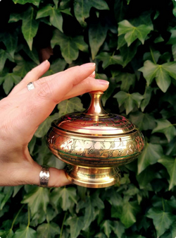 Brass Incense Offering dish