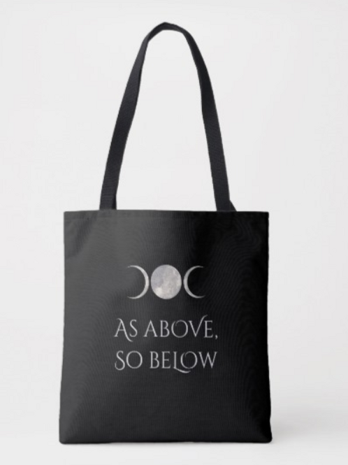 'As Above' and 'Blessed Be' Tote Bag