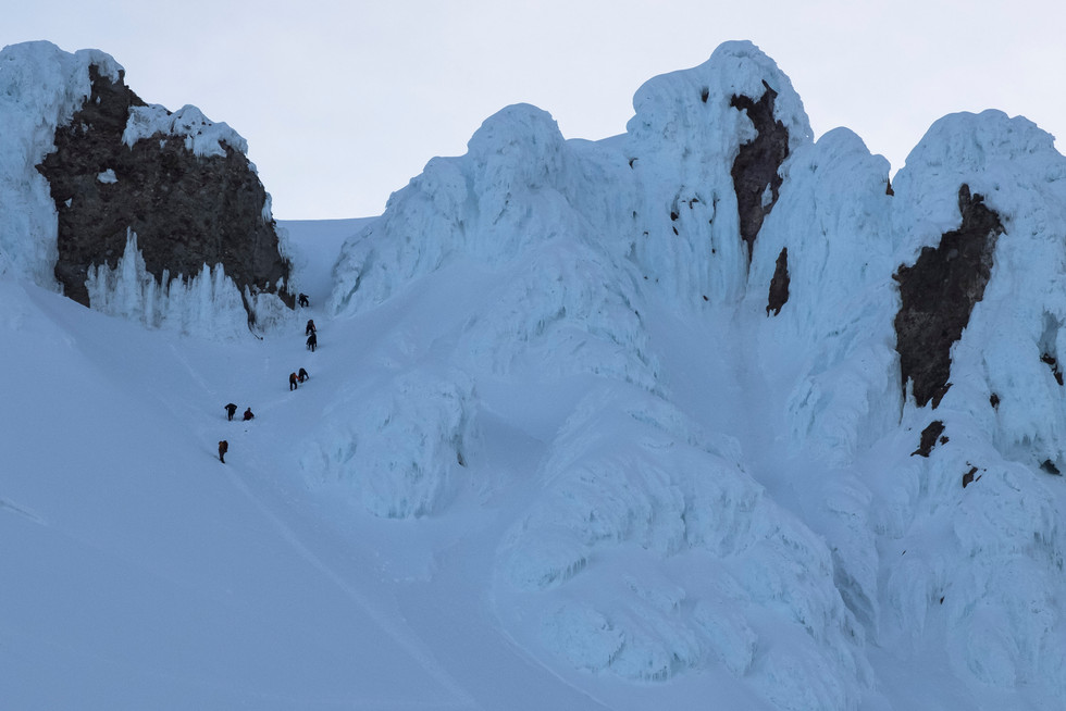 Climbers on the Pearly Gates