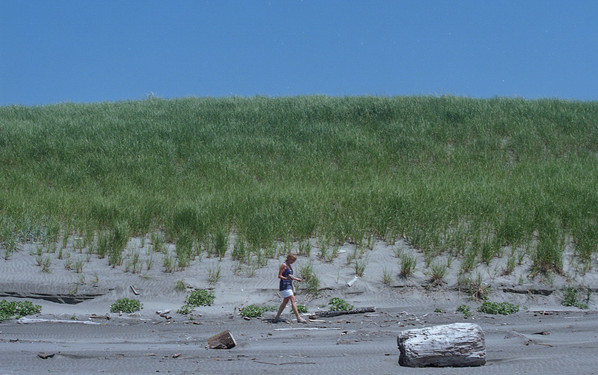 Beachcombing with Mother
