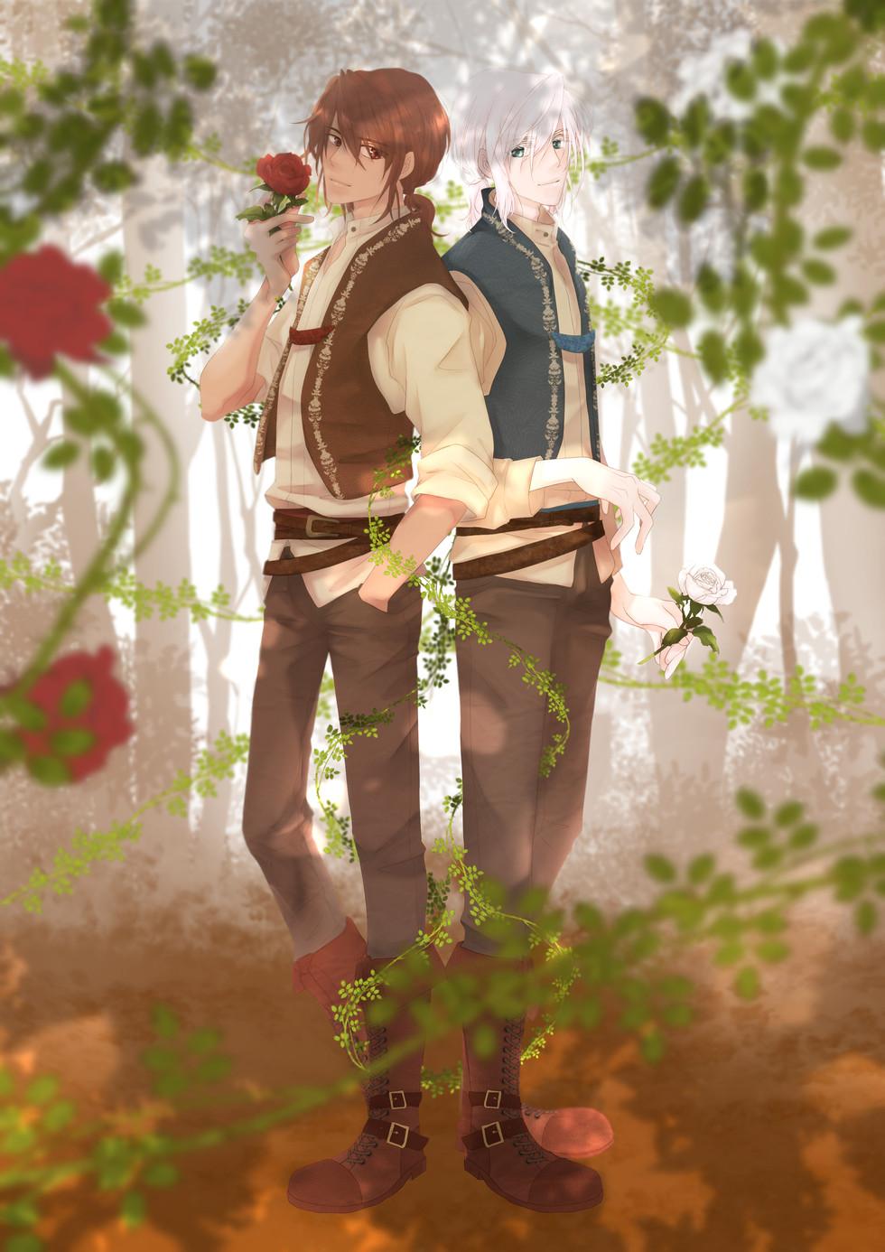 白雪と紅薔薇