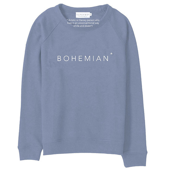 BOHEMIAN* SWEATER WASHED BLUE