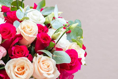 Mixed Rose & Eucalyptus
