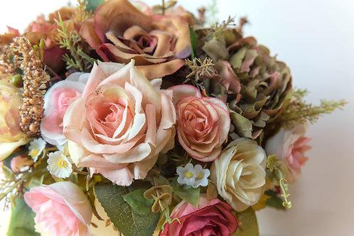 Vintage Rose & Hydrangea Bouquet