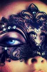 White Swan Venetian Style Lace Mask
