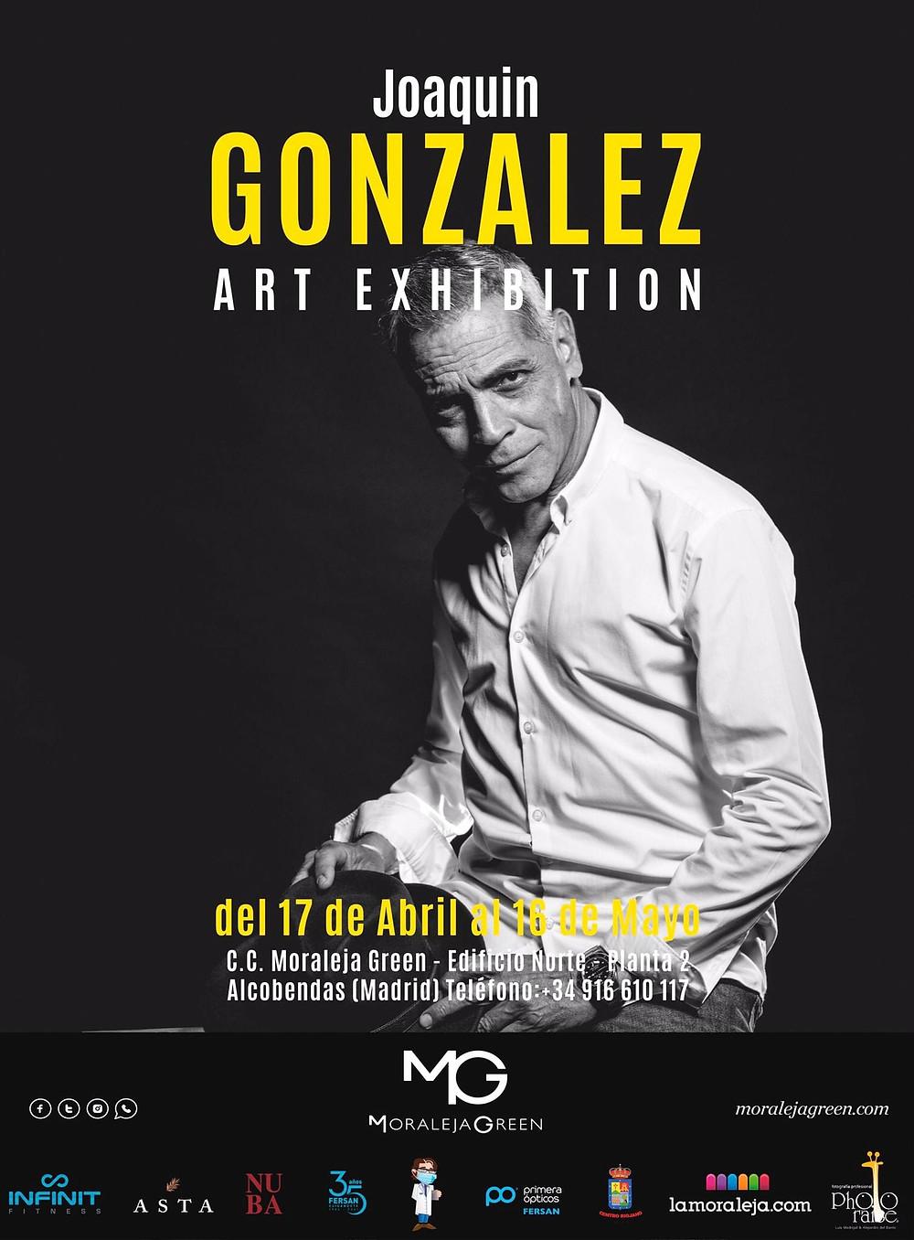 Art Exhibition. Cartel exposición Joaquín González