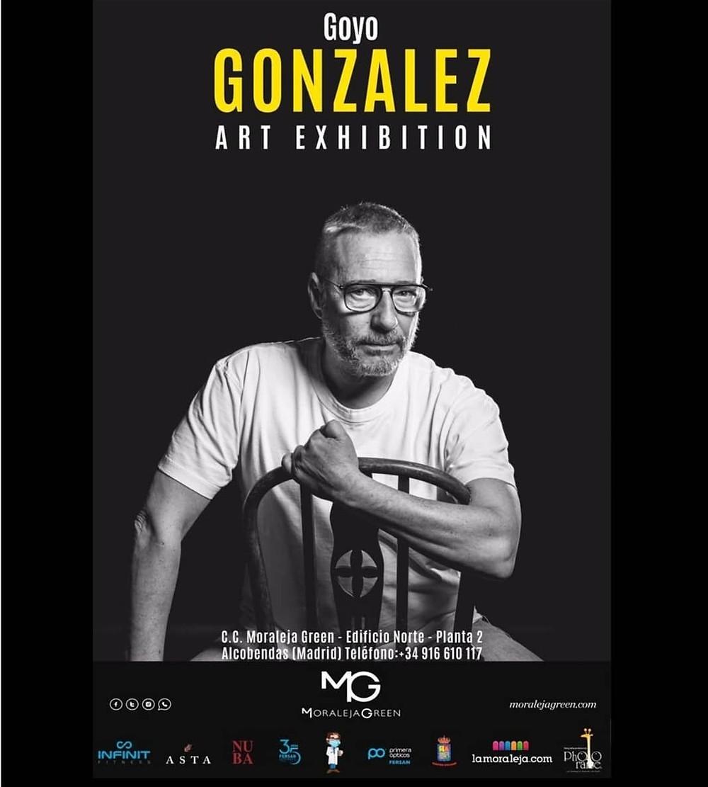 Art Exhibition. Cartel exposición Goyo González