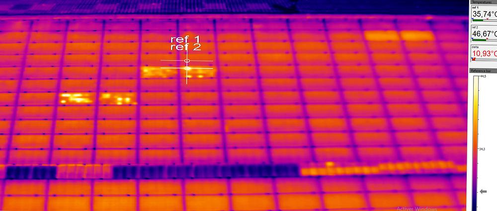 thermographie photovoltaïque optimiseur de puissance Solaredge court-circuit circuit ouvert expertise