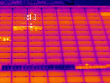 Qu'apporte la thermographie sur une installation équipée d'optimiseurs de puissance ?