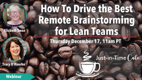 How to Drive the Best Remote Brainstorming for Lean Teams