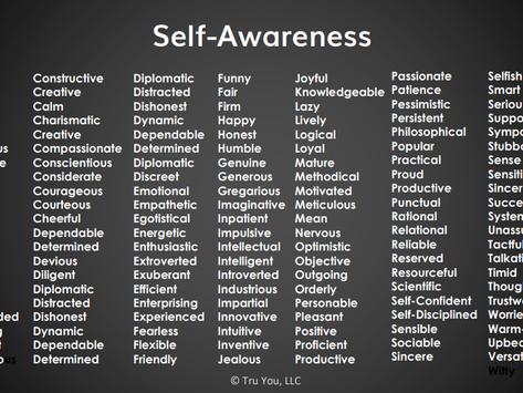 Starting with Self-Awareness