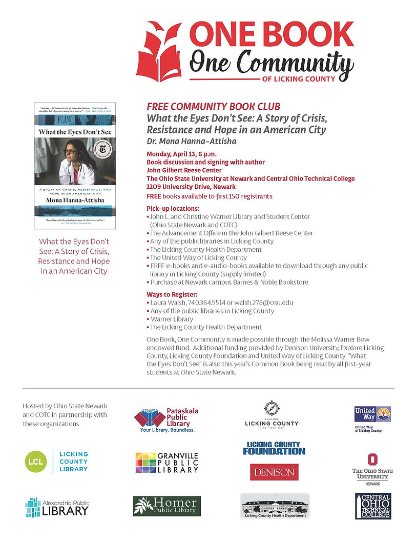 One Book One Community Flyer 2020-04-13.