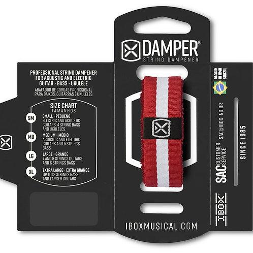 DAMPER de poliéster con logo de tela ROJO FRANJAS DKMD10